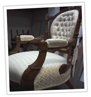 banner image antique armchair
