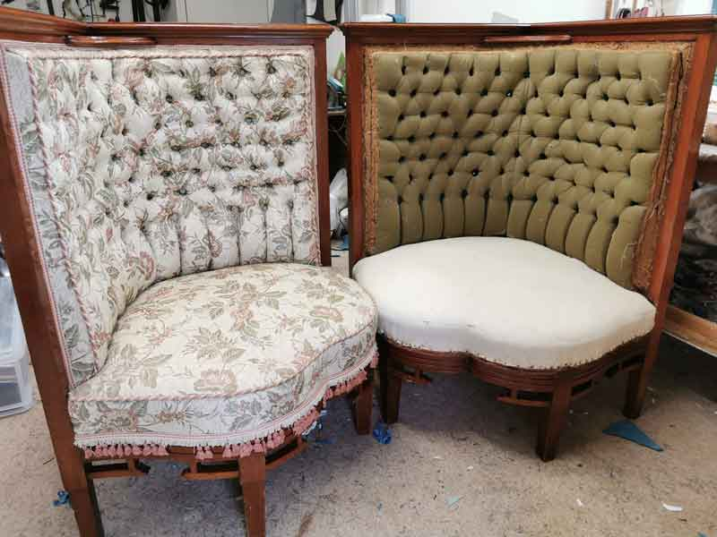 Reupholstering chinoise chairs