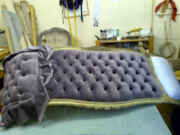 Bed in process of restoration